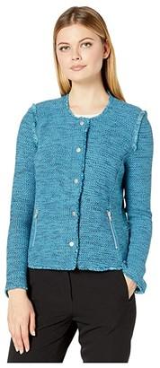 Nic+Zoe You Deserve It Jacket (Deep Turquoise) Women's Clothing