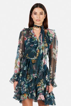 Zimmermann Wavelength Scallop Frill Mini Dress