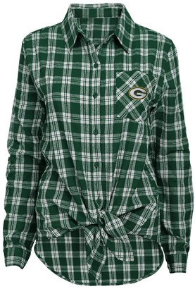 Juniors' Green Bay Packers Action Plaid Shirt
