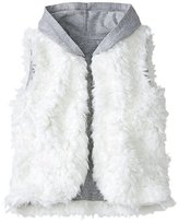Girls Feathery Fleece Hooded Vest