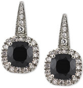 Giani Bernini Black and Clear Cubic Zirconia Drop Earrings in Sterling Silver, Created for Macy's