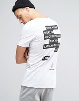 Jack and Jones T-shirt with Front and Back Print