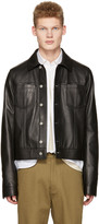 Maison Margiela Black Leather Trucker Jacket