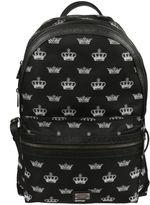 Dolce & Gabbana Crown Print Backpack