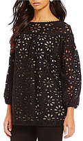M.S.S.P. Daisy Lace 3/4 Sleeve Blouse