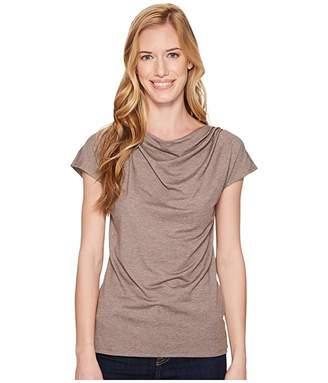 Royal Robbins Essential Tencel(r) Cowl Neck Top (Falcon Heather) Women's Short Sleeve Pullover