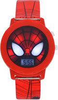Marvel Spiderman Boys Red Strap Watch-Spd4421jc