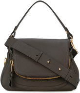 Tom Ford Medium Double Zip Jennifer crossbody bag - women - Cotton/Polyester/Bos Taurus - One Size