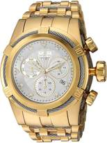 Invicta Men's 'Bolt' Quartz Gold and Stainless Steel Casual Watch, Color:Two Tone (Model: 23914)