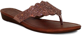 Fashion Focus Rose Gold Wide-Strap Tiffany Sandal