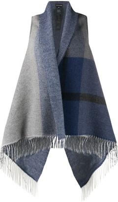 Emporio Armani Fringed Knitted Waistcoat