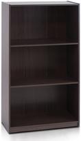 Furinno Dark Brown Three-Tier Bookcase