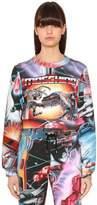 Moschino Transformer Printed Jersey Sweatshirt