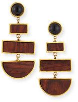 Lizzie Fortunato Totem Geometric Rosewood Drop Earrings