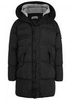 Stone Island Black Quilted Shell Coat