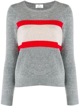 Allude colour-block knit sweater