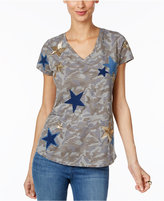 INC International Concepts Cotton Camo-Print T-Shirt, Only at Macy's