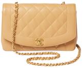 Chanel Vintage Beige Caviar Border Classic Flap Medium