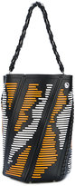 Proenza Schouler striped Hex tote bag