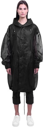 Mr & Mrs Italy Long Tech Organza Sheer Parka Coat