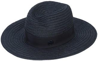 Maison Michel Logo Plaque Panama Hat