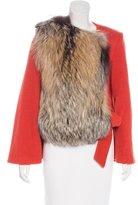 Thomas Wylde Fox Fur-Trimmed Wool Jacket