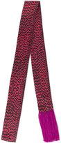 Haider Ackermann Logan Damier scarf - men - Silk - One Size