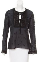 Andrew Gn Embroidered Long Sleeve Top