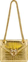 Dolce & Gabbana Light Gold Metallic Devotion Crossbody Bag