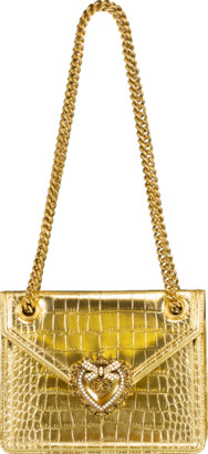 Dolce & Gabbana Metallic Devotion Crossbody Bag