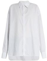 Raey Oversized striped cotton-poplin shirt