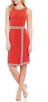 MICHAEL Michael Kors Faux Wrap Matte Jersey Border Print Trim Dress