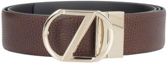 Ermenegildo Zegna Grainy Leather Belt