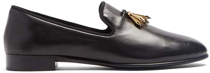 Giuseppe Zanotti Metal-tassel leather loafers