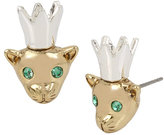Betsey Johnson Marie Antoinette Crowed Mouse Stud