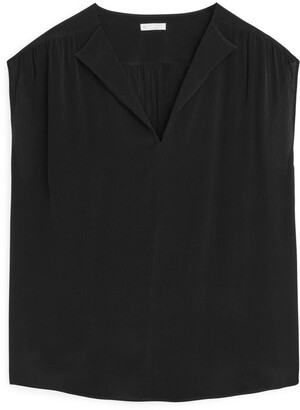 Arket Sleeveless V-Neck Top