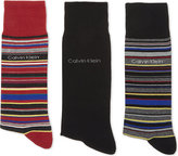 Calvin Klein Kenny Striped Cotton Socks Pack Of Three