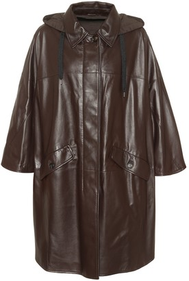 Brunello Cucinelli Hooded leather coat