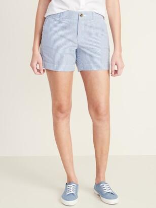 Old Navy Mid-Rise Everyday Seersucker Shorts for Women - 5-inch inseam