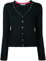 GUILD PRIME diamanté studded V-neck cardigan