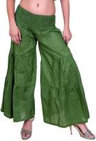 Sarjana Handicrafts Women's Cotton Palazzo Harem Yoga Genie Dance Baggy Pants