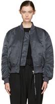 Acne Studios Navy Clea Bomber Jacket