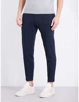 Brunello Cucinelli Cropped Cotton-blend Jogging Bottoms