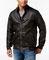 INC International Concepts Men's Varsity Faux Leather Zip-Front Jacket, Only at Macy's