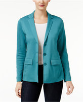 Style&Co. Style & Co Three-Button Knit Blazer, Only at Macy's