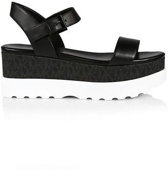 MICHAEL Michael Kors Marlon Logo Leather Flatform Sandals