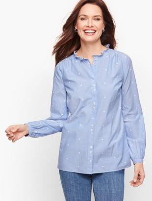 Talbots Feminine Button Front Shirt - Stripe