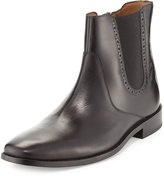 Cole Haan Giraldo Chelsea Brogue Leather Boot, Black/Caviar