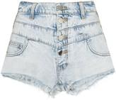 Amiri embroidered stripe denim shorts