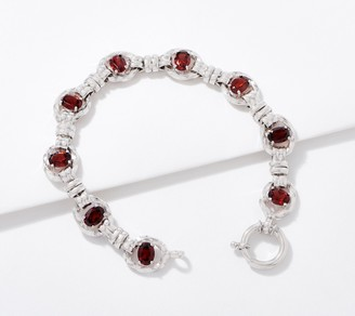 "Sterling Silver Gemstone 7-1/4 ""Bracelet by Silver Style"